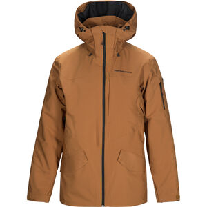 Peak Performance Maroon Long Jacket Herr Honey Brown Honey Brown