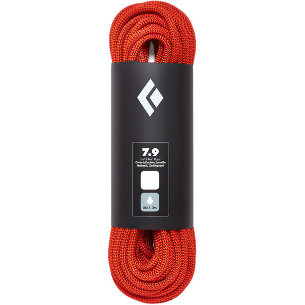 Black Diamond 7.9 Dry Rope 30m orange