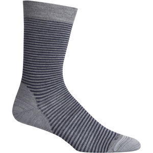 Icebreaker Lifestyle Fine Gauge Crew Micro Stripe Socks Herr Twister Heather Twister Heather