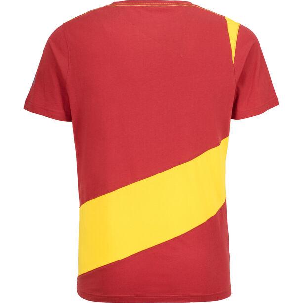 La Sportiva Slab T-shirt Herr cardinal red/lemonade