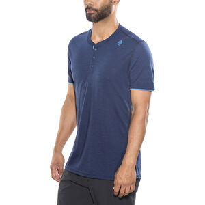 Aclima LightWool Henley Shirt Herr insignia blue/blithe insignia blue/blithe