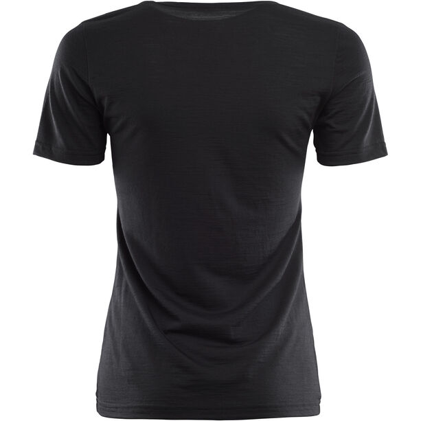 Aclima LightWool T-shirt Dam jet black