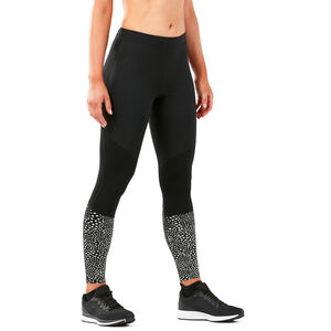 2XU Wind Defence Compression Tights Dam black/silver glo reflective black/silver glo reflective