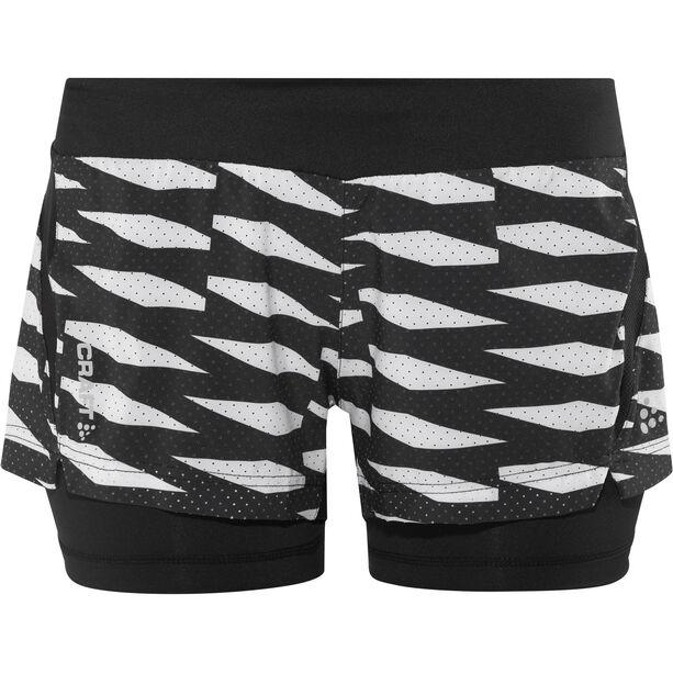 Craft Breakaway 2-In-1 Shorts Dam p trellis black