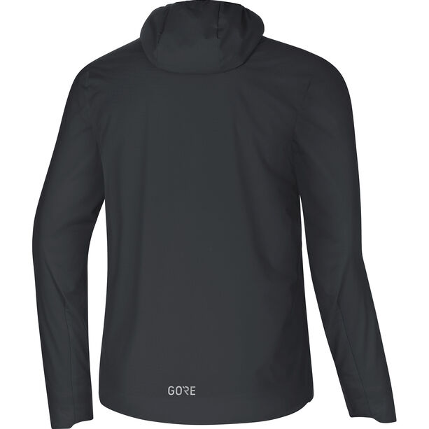 GORE WEAR H5 Gore Windstopper Insulated Hooded Jacket Herr black/terra grey