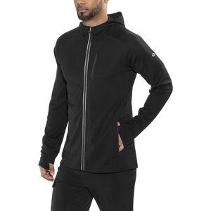Icebreaker Quantum LS Zip Hood Jacket Herr black black