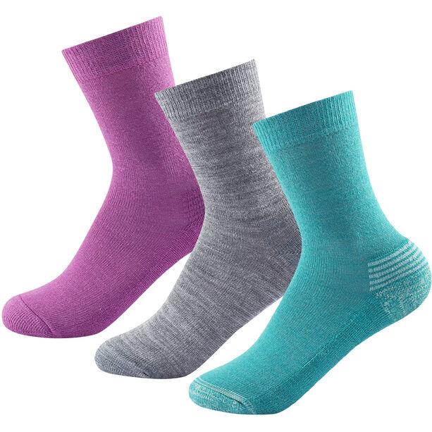 Devold Daily Medium Socks 3 Pack Barn girl mix