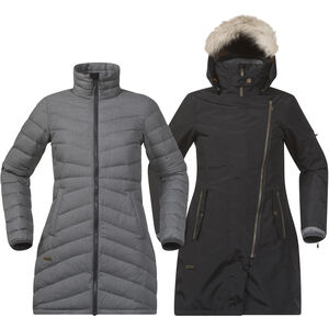 Bergans Sagene 3in1 Coat Dam outer:black/inner:soliddkgrey outer:black/inner:soliddkgrey