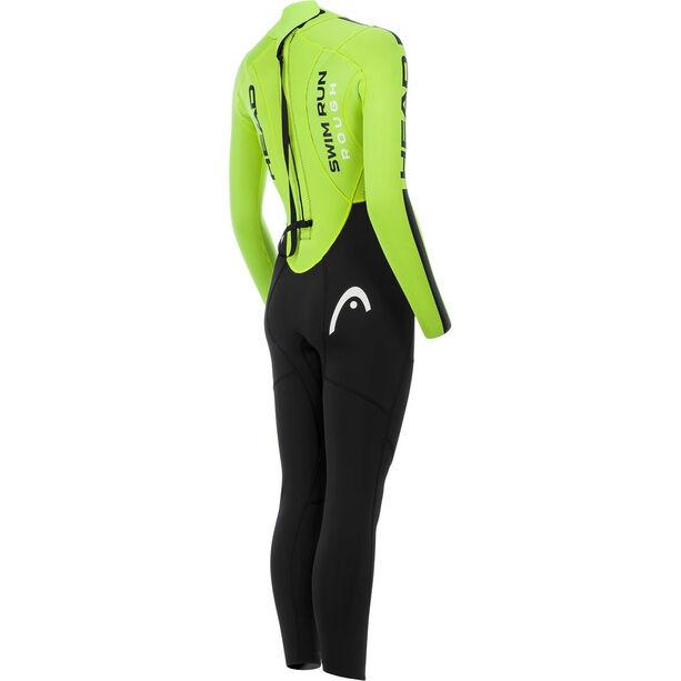 Head SwimRun Rough Suit Dam black/flourocent lime