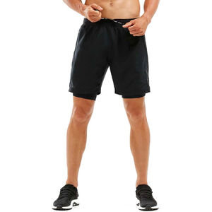 "2XU 7"" 2in1 Compression Shorts Herr black/black black/black"