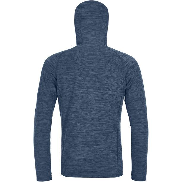 Ortovox Merino Fleece Light Melange Hoody Herr night blue blend