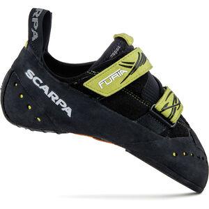 Scarpa Furia Climbing Shoes black/limefluo black/limefluo