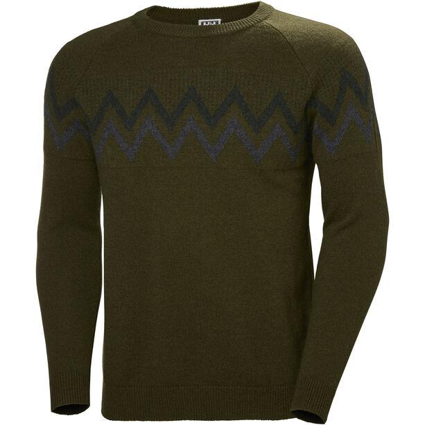 Helly Hansen Wool Knit Sweater Herr forest night