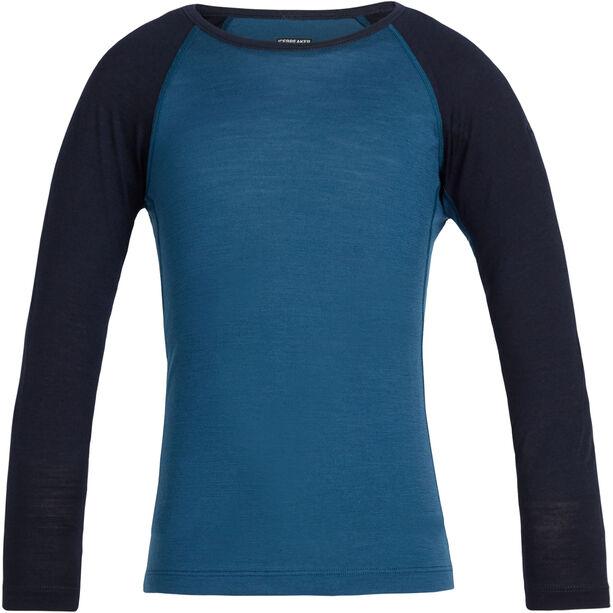 Icebreaker 200 Oasis LS Crewe Shirt Barn prussian blue/midnight navy