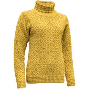 Devold Svalbard High Neck Sweater Herr cyber/arrowwood cyber/arrowwood