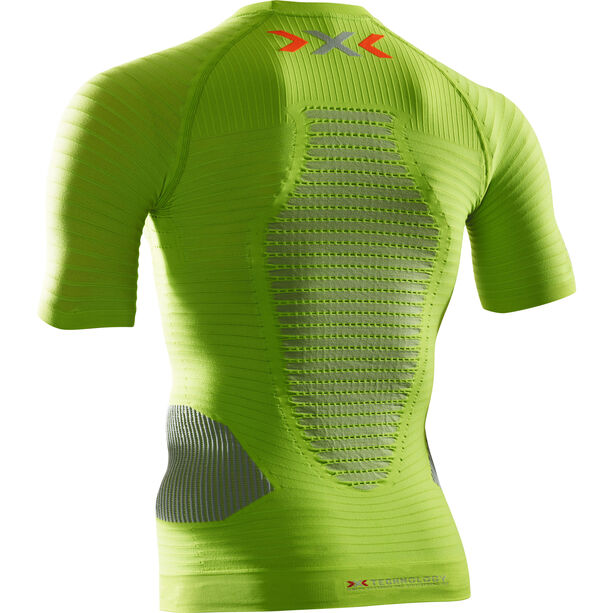 X-Bionic Effektor Power Running Shirt SS Herr greenlime/pearl grey