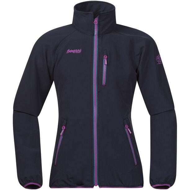 Bergans Kjerag Jacket Flickor navy/steel blue/pink rose