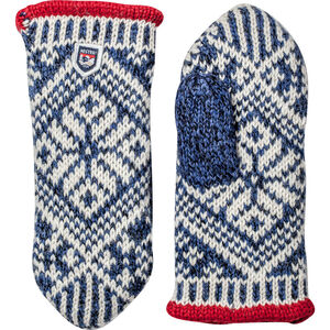 Hestra Nordic Wool Mittens mellanblå/offwhite mellanblå/offwhite