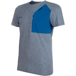 Mammut Crashiano Pocket T-Shirt Herr Wing Teal Melange-Sapphire Wing Teal Melange-Sapphire
