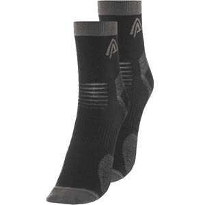 Aclima Running Socks 2-Pack jet black jet black