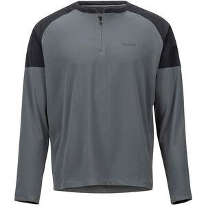 Marmot Bowery LS Herr slate grey/black slate grey/black