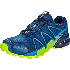 Salomon Speedcross 4 GTX Shoes Herr poseidon/navy blazer/lime green poseidon/navy blazer/lime green