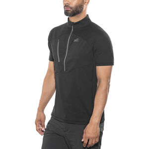 Millet Elevation Short Sleeve Zip Shirt Herr black-noir black-noir