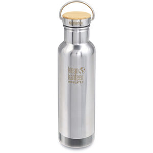 Klean Kanteen Reflect Vacuum Insulated Bottle w. Unibody Bamboo Cap 592ml mirrored stainless mirrored stainless