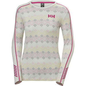 Helly Hansen Lifa Active Graphic Crew Shirt Dam White Dotted Print White Dotted Print