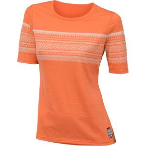 Aclima DesignWool Marius T-shirt Dam coral rose coral rose