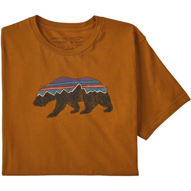 Patagonia Fitz Roy Bear Organic T-shirt Herr hammonds gold