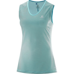 Salomon Trail Runner Sleeveless Tee Dam blue curacao/charcoal. blue curacao/charcoal.