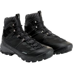 Mammut Ducan Knit High GTX Shoes Herr black-titanium black-titanium