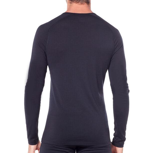 Icebreaker 200 Oasis Deluxe Raglan Single Line Ski LS Crewe Shirt Herr black