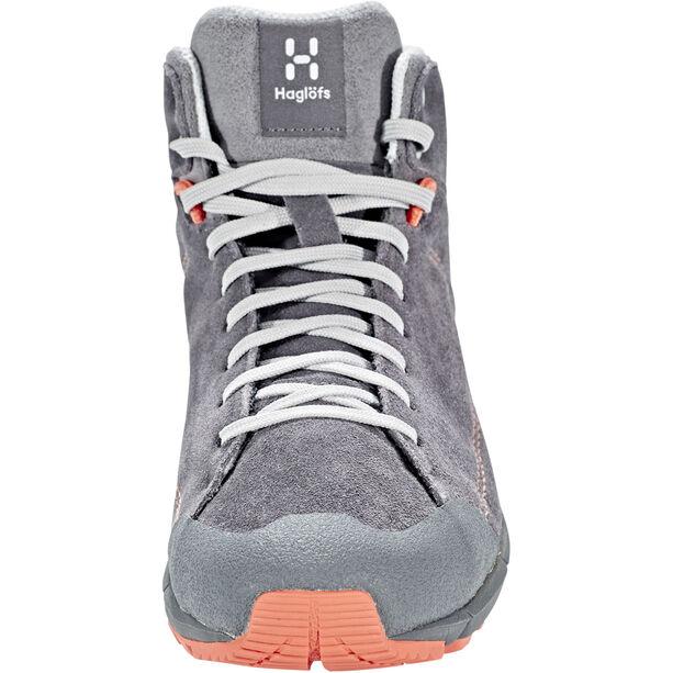 Haglöfs Roc Lite Mid Shoes Dam magnetite/coral pink magnetite/coral pink