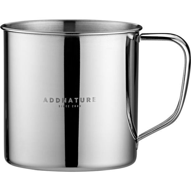 addnature Mug Stainless Steel 500ml silver