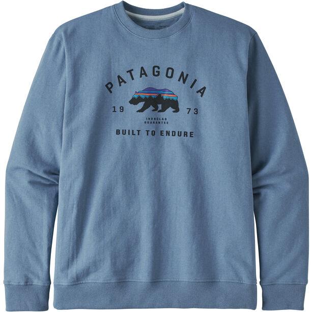 Patagonia Arched Fitz Roy Bear Uprisal Crew Sweatshirt Herr pigeon blue