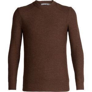 Icebreaker Waypoint Crewe Sweater Herr bronze heather bronze heather