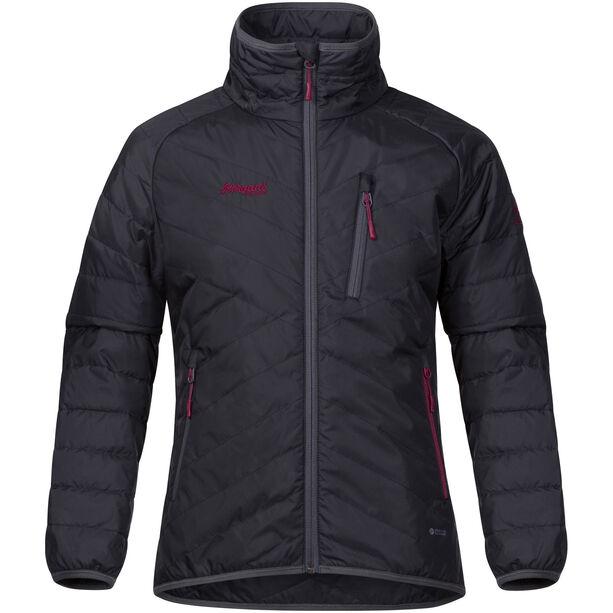 Bergans Josten Lt Insulated Jacket Flickor solid charcoal/sol dark grey/dusty cerise