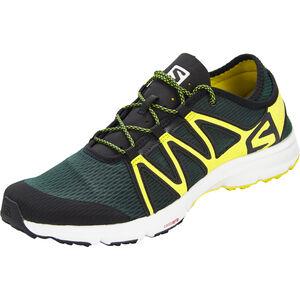 Salomon Crossamphibian Swift Shoes Herr darkest spruce/black/sulphur spring darkest spruce/black/sulphur spring
