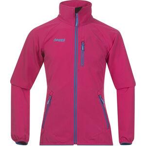 Bergans Kjerag Jacket Flickor hot pink/lt seablue/br seablue hot pink/lt seablue/br seablue