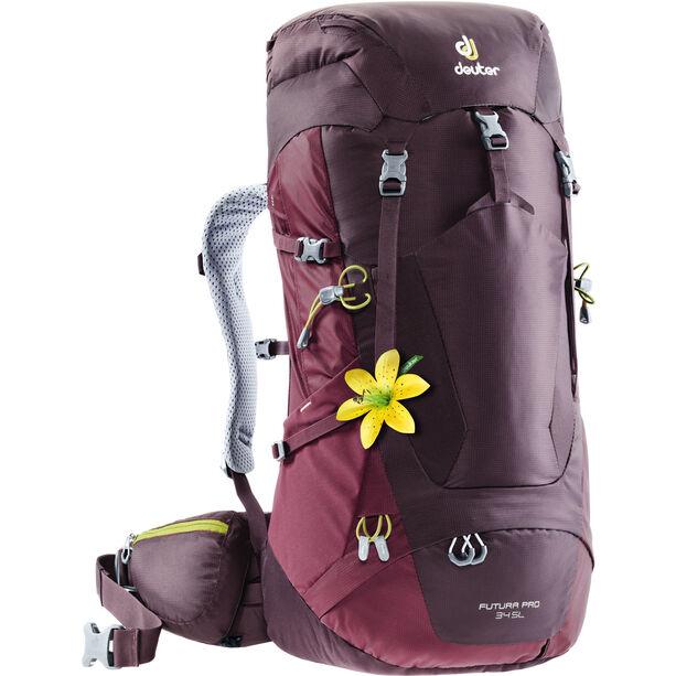 Deuter Futura Pro 34 SL Backpack Dam aubergine-maron