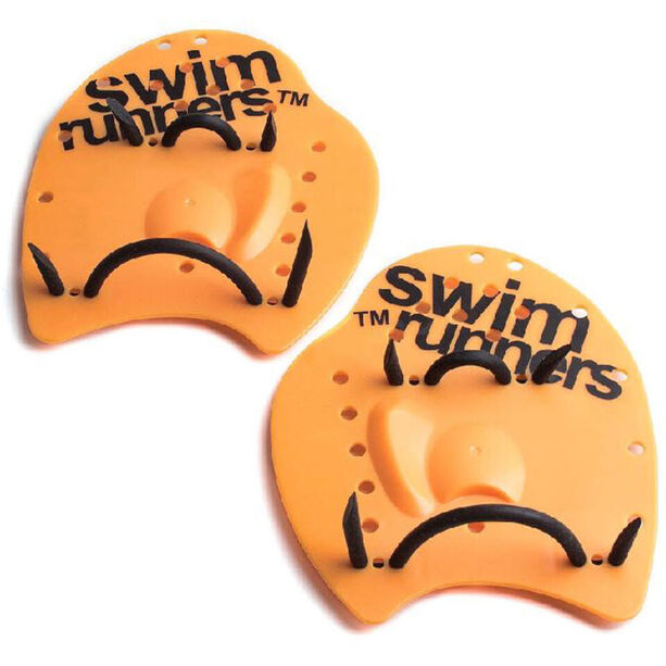 Swimrunners Go The Distance Hand Paddles orange/black