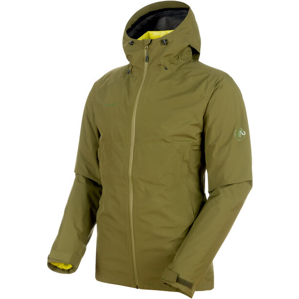 Mammut Convey 3in1 HS Hooded Jacket Herr clover-canary