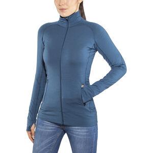 Icebreaker Fluid Zone LS Zip Shirt Dam prussian blue/midnight navy prussian blue/midnight navy