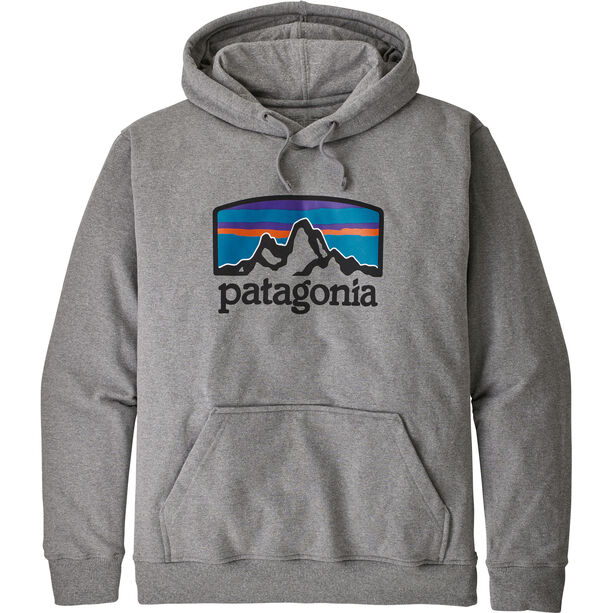 Patagonia Fitz Roy Horizons Uprisal Hoody Herr gravel heather