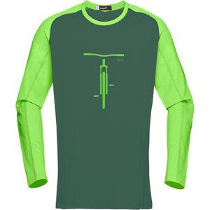 Norrøna Fjørå Equaliser Lightweight Long Sleeve Herr bamboo green bamboo green
