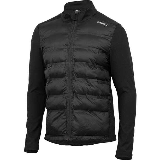 2XU Heat Half Puffer Jacket Herr black/black