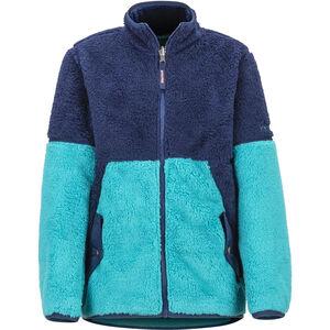 Marmot Lariat Fleece Jacket Flickor blue tile/arctic navy blue tile/arctic navy