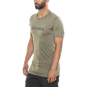 Aclima LightWool LOGO T-shirt Herr ranger green ranger green